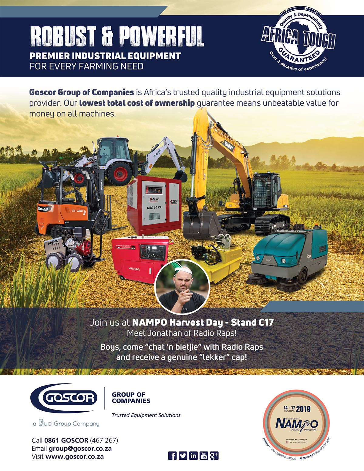 , GEM showcases ideal SANY equipment for agriculture at NAMPO 2019
