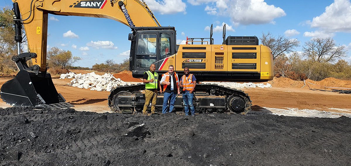 , Goscor Earthmoving Equipment makes inroads into Lephalale with sale of SANY SY750 excavator